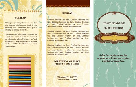 Free Brochure Templates For Pages by Tri Fold Brochure Template Pages Pages Trendy Eclectic Tri