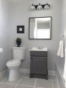 Grey Bathroom Fixtures by Small Garage Bathroom Painted Vanity Wall Behr