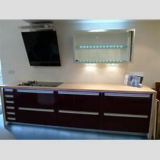 Exdisplay Aubergine Alno Chic Kitchen, Worktops And