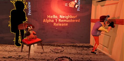hello neighbor alpha 1 remastered is released news mod db