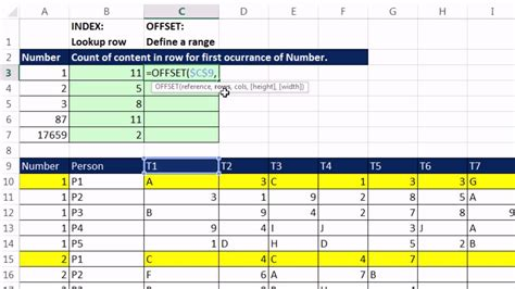 excel magic trick  count number  items  row