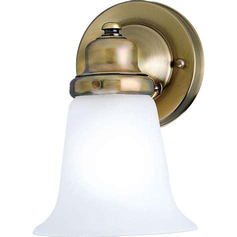 progress lighting  light antique brass bath sconce