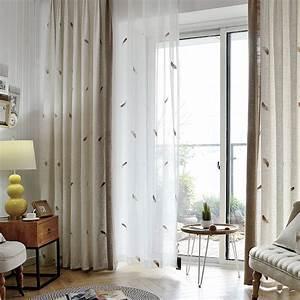 Rideau Pour Balcon : moderne style coton lin tissu embroidere rideau pour salon ~ Premium-room.com Idées de Décoration