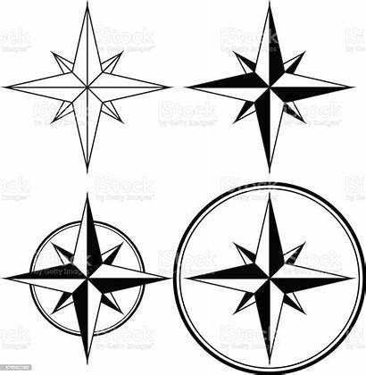 Compass Navigation Rose Sign Wind Illustration Vector