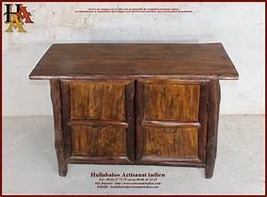 Meuble Bas Bois : meuble bas en bois massif jn10 sgh21 meubles indiens artisanat ~ Teatrodelosmanantiales.com Idées de Décoration
