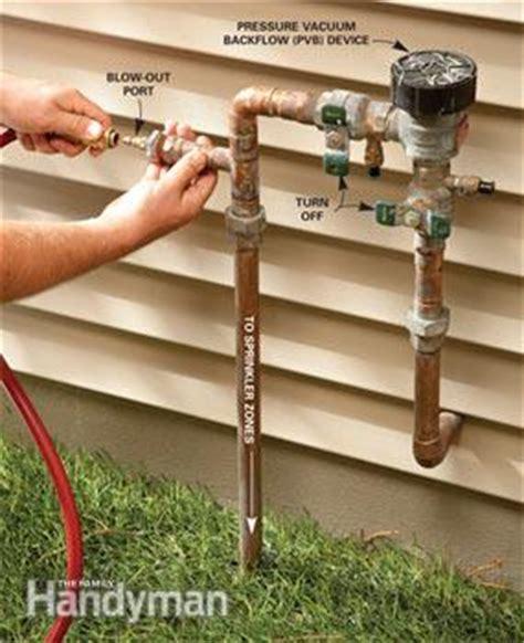 winterize  sprinkler system  family handyman