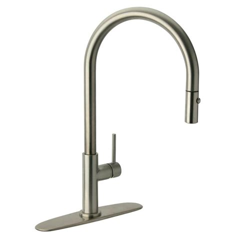 glacier bay kitchen faucets glacier bay carmina single handle pull sprayer