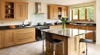 kitchen island designs plans open plan oak shaker kitchen from harvey jones