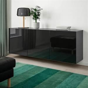 Ikea Besta Schublade : best schrankkombination f r wandmontage schwarzbraun selsviken hochglanz schwarz ikea ~ Watch28wear.com Haus und Dekorationen
