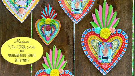 mexican tin folk art craft youtube