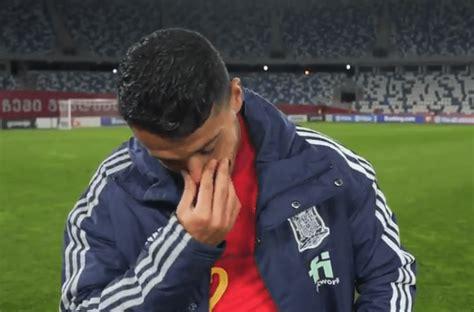 La emoción del canterano Pedro Porro tras debutar con la ...