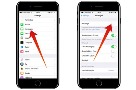 how to turn on imessage on iphone disable imessage on iphone or to stop receiving messages