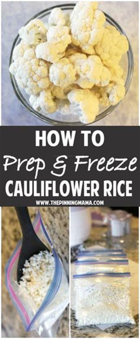 how to freeze cauliflower frozen cauliflower rice cauliflower rice and cauli rice on pinterest