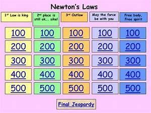 Jeopardy newtons laws