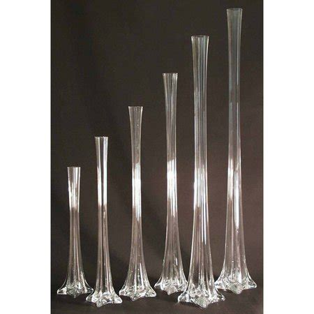 12 Inch Eiffel Tower Vases by Eiffel Tower Glass Vase Centerpiece 12 Inch Clear