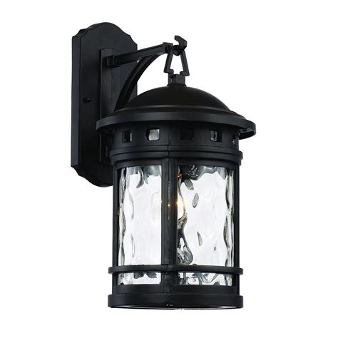 bel air lighting 1 light black outdoor chimney stack wall