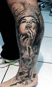 Tattoo Leben Und Tod : tatuagens masculinas na perna inspire se com fotos e ideias ~ Frokenaadalensverden.com Haus und Dekorationen