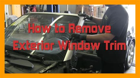 How To Remove Exterior Window Trim  20022008 B6b7 Audi