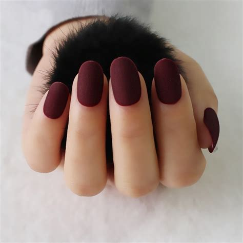 24pcs/set new full cover matte false nails short round