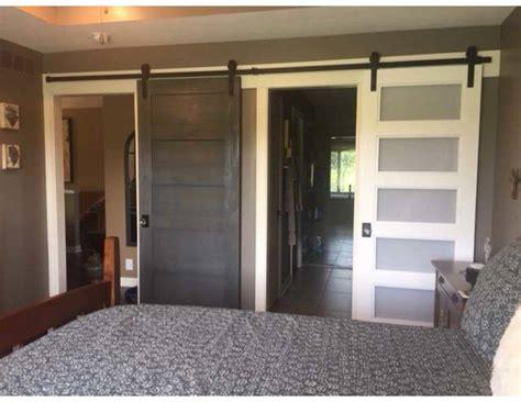 bedroom barn door makeover interiors joan associates