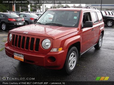 orange jeep patriot sunburst orange pearl 2008 jeep patriot sport dark