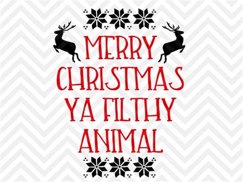 vintage jeep logo merry christmas you filthy animal christmas svg and dxf