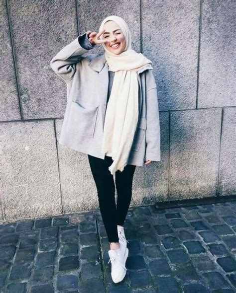 attractive hijab winter outfits buzz