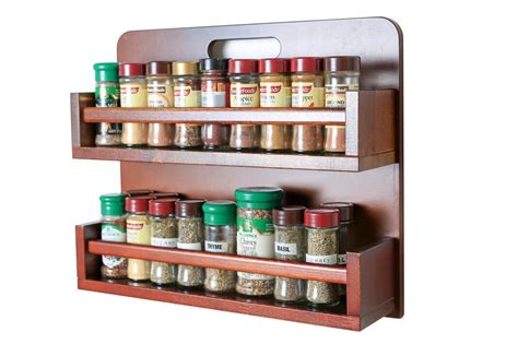 Timber Spice Rack by Spice Rack Wooden Open Top 2 Tiers Timber Rail