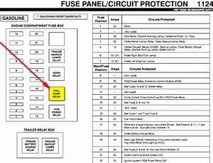 2001 Ford F250 Fuel Pump Relay Location