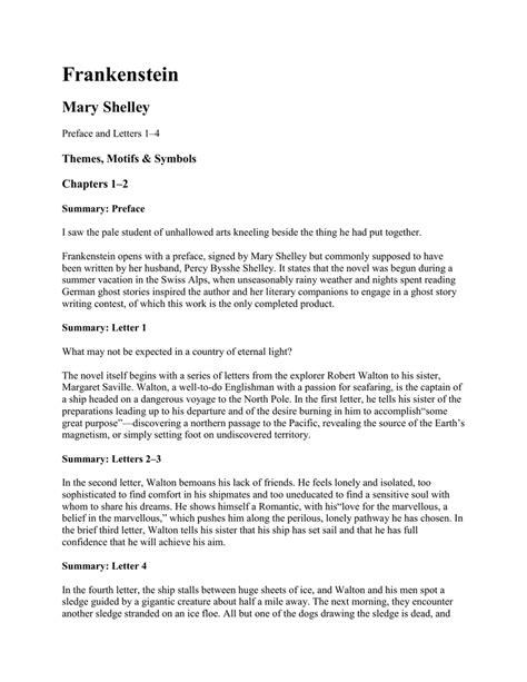 frankenstein letters summary frankenstein letter 4 summary how to format cover letter 37979