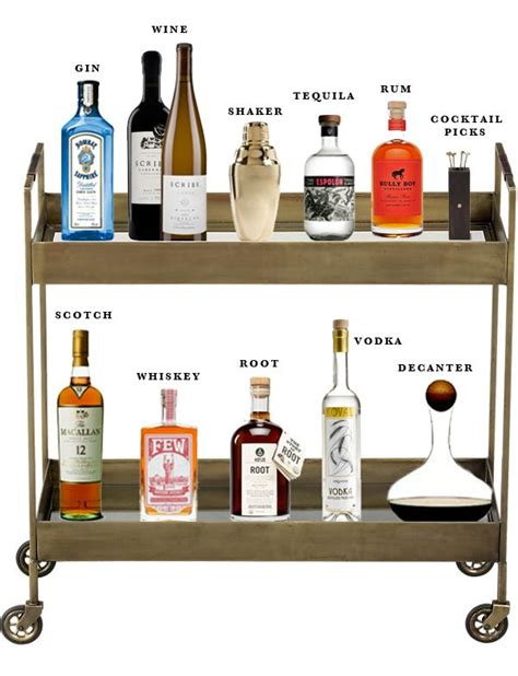 Bar Essentials by Best 25 Home Bar Essentials Ideas On Bar Cart