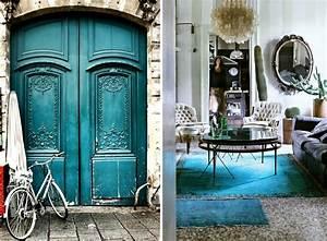Meuble Bleu Canard : d co bleu canard id es de peinture murale meubles et objets d co ~ Teatrodelosmanantiales.com Idées de Décoration