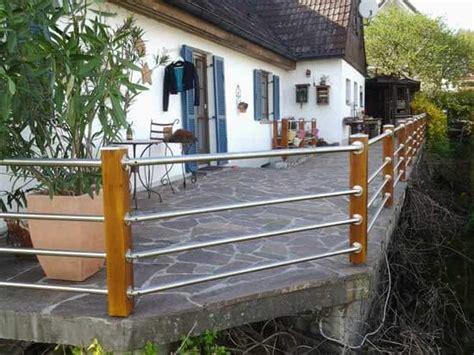 edelstahlgeländer selber bauen terrassengel 228 nder aus holz und edelstahl selber bauen