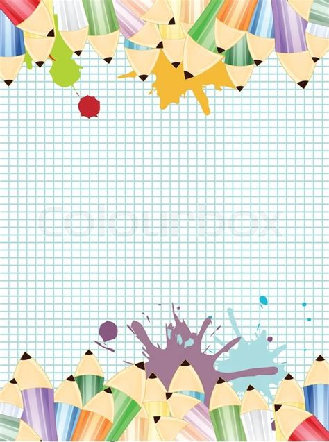 illustration  colored pencils  math stock photo