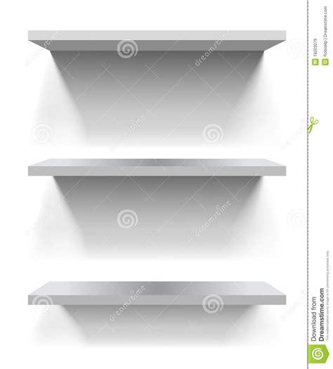 mensole bianche mensole bianche illustrazione vettoriale illustrazione di