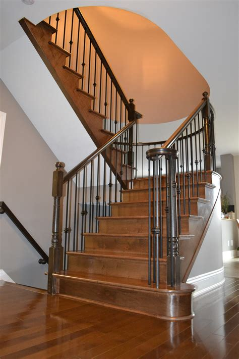 wrought iron staircase spindles with lavish stair parts