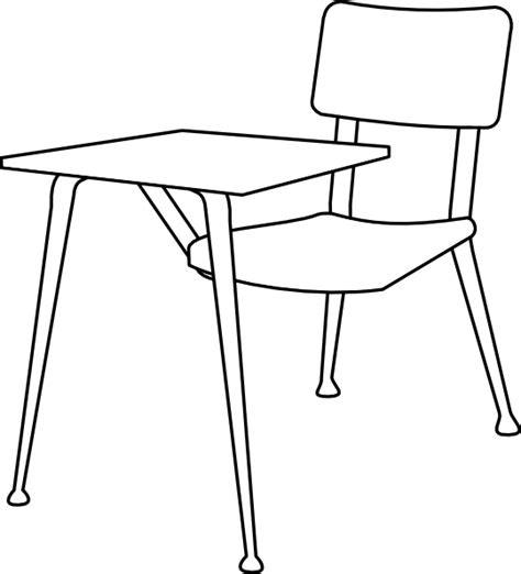 student desk clipart black and white chair clip at clker vector clip