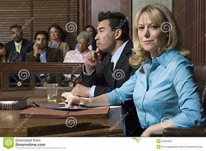Defense Lawyer With Client In Court Stock Photo - Image ...