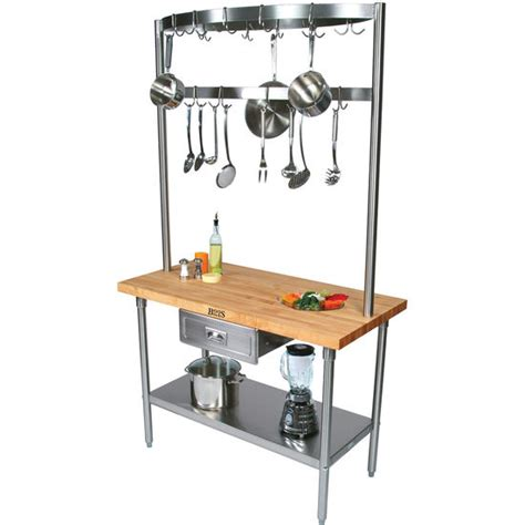 kitchen island with pot rack boos cucina grandioso with pot rack free shipping