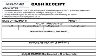 professional cash receipt template