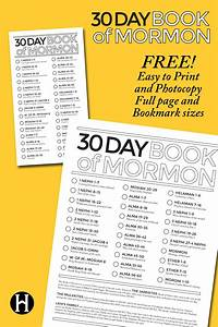 30 Day Book Of Mormon Reading Charts Book Of Mormon