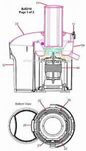 Breville Bje510xl Parts List And Diagram