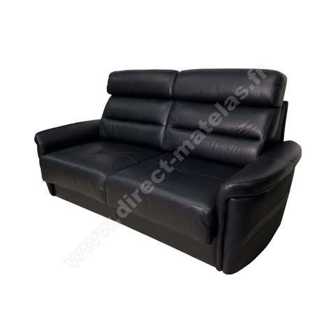 canapé m canapé convertible d m lotus cuir noir