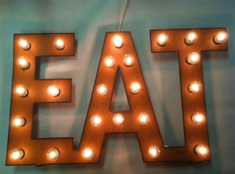 eat lighted sign