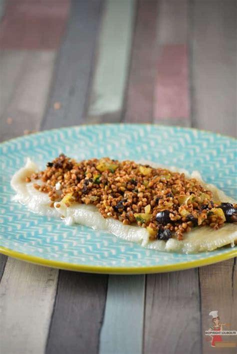 recettes cuisine laurent mariotte filets de flé rôtis au crumble de kasha