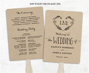 printable wedding program template wedding fan programs With wedding programs fans templates