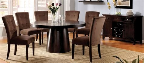 espresso dining room set espresso pedestal dining room set from