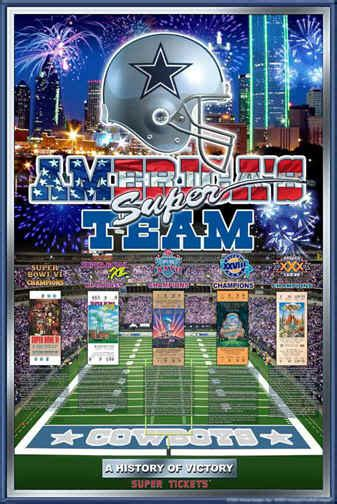 dallas cowboys histroy  victory football art poster posters
