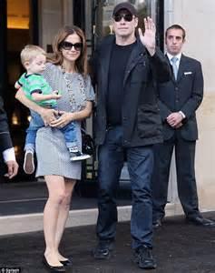 John Travolta enjoys day out with wife Kelly Preston and ...