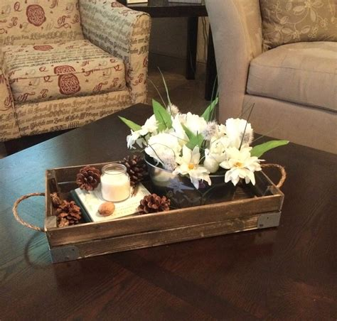 Coffee tables serve several purposes; crate or tray center pieces | Coffee table decor tray, Coffee table centerpieces, Tray decor